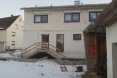 Treppe zum Einfamilienhaus